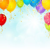 Color balloons Stock Photography
