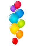 Color balloons. On white background Royalty Free Stock Photo