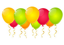 Color balloons. On white background Royalty Free Stock Image