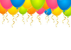 Color balloons on white. Background Stock Images