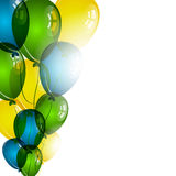 Color balloons on white background for birthday wishes Stock Images