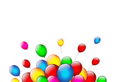 Color balloons on white background. Vector Royalty Free Stock Images