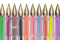 Color ballpoint pens Royalty Free Stock Photos