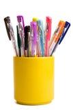 Color ballpoint pens Stock Photo
