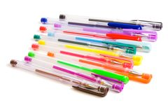 Color ballpoint pens Stock Image