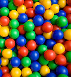 Color balls. Many colour plastic balls from children's small town Royalty Free Stock Image