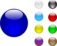 Color balls. Glass color balls vector illustraition Stock Photo