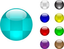 Color balls. Color glass balls vector illustration Royalty Free Stock Photos