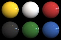 Color balls. 3d rendered color balls with reflection Stock Image