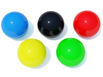 Color balls. Isolated on white Royalty Free Stock Photo