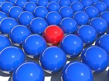 Color balls. Blue and red color balls royalty free illustration