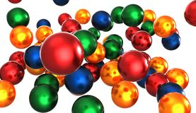 Color balls Stock Images