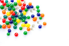 Color balls, colored polymer gel, hydrogel beads Stock Images
