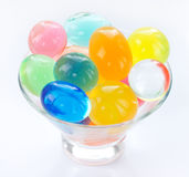 Color balls, colored polymer gel, hydrogel beads Royalty Free Stock Photography