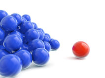 Color balls crowd Stock Photos