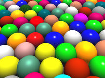Color balls or easter eggs Royalty Free Stock Images