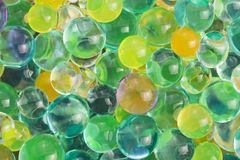 Hydrogel beads. Color balls, hydrogel beads, background Stock Image