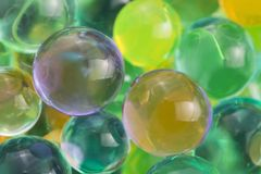 Hydrogel beads. Color balls, hydrogel beads, background Stock Photo