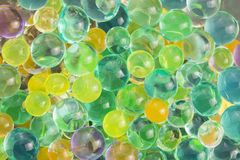 Hydrogel beads. Color balls, hydrogel beads, background Stock Photos