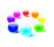 Color balls perspective Stock Photography