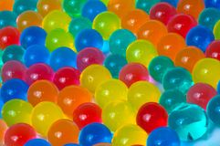 Color balls of polymer gel. Color balls, colored polymer gel, hydrogel beads Royalty Free Stock Photo