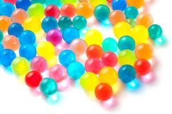 Color balls of polymer gel. Color balls, colored polymer gel, hydrogel beads Royalty Free Stock Photos