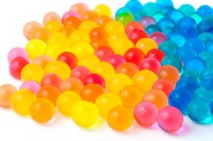 Color balls of polymer gel. Color balls, colored polymer gel, hydrogel beads Royalty Free Stock Photography