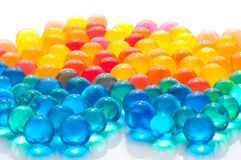 Color balls of polymer gel. Color balls, colored polymer gel, hydrogel beads Royalty Free Stock Images