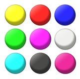 Color balls set Royalty Free Stock Photos