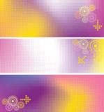 Color banner. Abstract color mosaic banner with design element Stock Image