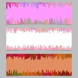 Color banner background design set - horizontal vector graphic from vertical stripes Stock Photos