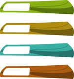 The  color banner set Stock Image