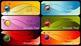 Color banner vector Stock Photos