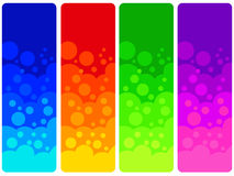 Color banners. Banners in several bright colors (copy space provided to the top of the banners Royalty Free Illustration