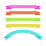 Color banners. Different color banners on a white background Royalty Free Stock Images