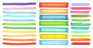 Free Color Banners Drawn With Japan Markers. Stylish Elements For Design. Vector Marker Stroke Stock Photos - 100128673
