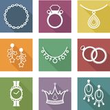 icons of jewelry Stock Photography