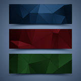 Color banners templates. Abstract backgrounds Royalty Free Stock Photography