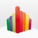 Color bar chart Royalty Free Stock Photos