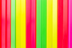 Color bar. Colored sticks made ​​of colorful plastic Stock Images