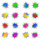 Color Barb Medal Sticker Label Set Royalty Free Stock Images