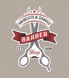Color Barber Scissors Poster Stock Images