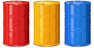 Color barrels Stock Photos