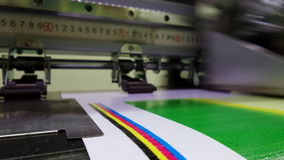 Color bars, correct ink nozzle functionality Stock Photos