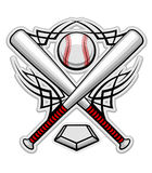 Color baseball emblem Royalty Free Stock Images