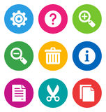 Color basic interface icons Stock Photo