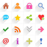 Color basic sign flat icon Stock Photo