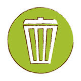 Color basket care environment icon. Illustration Royalty Free Stock Photo