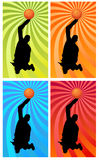 Color basketball 1 Stock Image