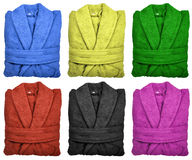 Color bathrobes Stock Image